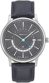 Gant Chester Men's Grey Dial Leather Band Watch - G Gww026001, Analog Display