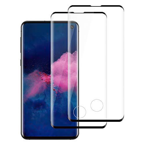 [2 Pack] Cristal Templado para Samsung Galaxy S10 Plus, [Dureza 9H] [Sin Burbujas] [Resistente a...