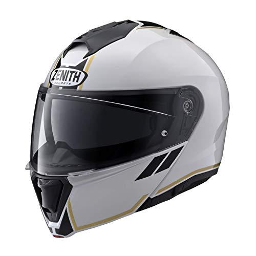 ヤマハ(Yamaha) バイクヘルメット システム YJ-21 ZENITH サンバイザーモデル グラフィック GF-02 パールホワイト XLサイズ(61-62cm) 90791-2369X