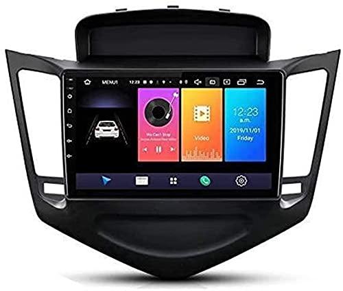 Car Radio HD Pantalla táctil Car Sat Nav para Chevrolet Cruze J300 2013~2015, Navegación GPS Bluetooth Soporte 4G WiFi Pantalla WiFi BT Enlace Espejo (Color: 2 + 32)
