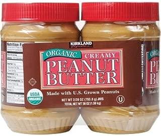 Kirkland Organic Creamy Peanut Butter U.S. Valencia Peanuts 28 Ounce Each Jar 2 Pack
