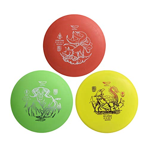 Yikun Discs Golf Set 3 in 1 Entry Level | Includes Driver,Mid-Range and Putter|160-176g|Perfect Outdoor Games,Family Games for Kids, Beginners