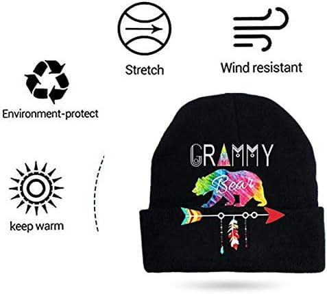 QUEBEAR Why We Don't Beanie Caps Skull Cap Knitting Hat Warm Winter Hedging Cap for Men Women Black Thin