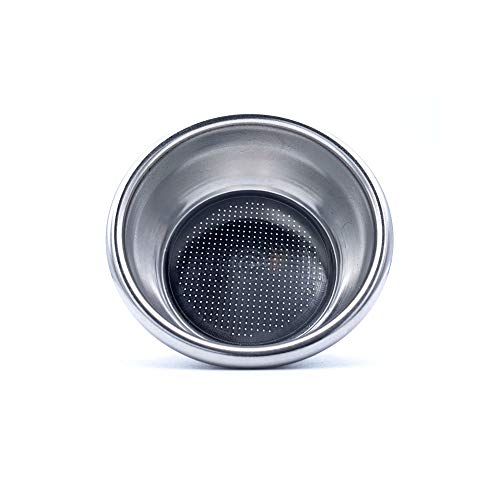 54mm 2 Cup Single Wall Coffee Filter Basket - Non-Pressurized Stainless Steel, Metal Portafilter Container - Reusable, Washable - Compatible with Breville Espresso Machines - 18/20g