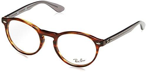 Ray-Ban 0rx 5283 5607 47 Monturas de gafas, Striped Havana, Hombre