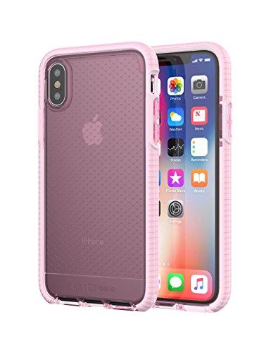 Tech21 Evo Check Schutzhülle für Mobiltelefon mit 14,7cm (5,8Zoll), für Apple iPhone X, Rosa/Weiß