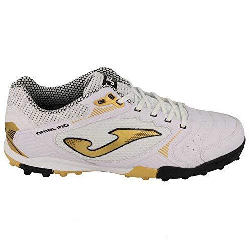 Joma Dribling 2022 Turf Zapato para hombre - Oro blanco, blanco (Blanco dorado), 39.5 EU