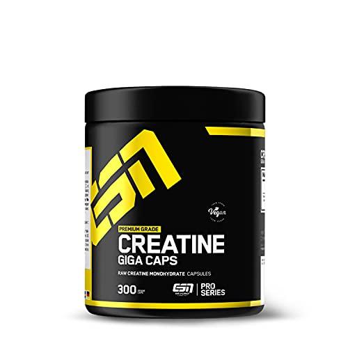 ESN Creatine Giga Caps, hochwertiges ultrafeines Creatine Monohydrat, vegan, 300 Kapseln