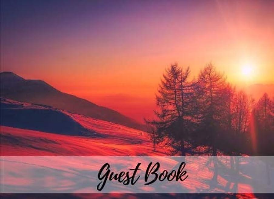 アナログ前奏曲旅行代理店Guest Book: Mountain Side Sunset | Sign In Book | Party, Events, Wedding, Showers, Graduation, Birthday, Anniversary, Retirement, Vacation or Guest Home