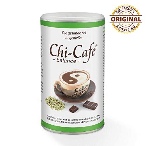 Chi-Cafe balance 450 g Dose 90 Tassen I veganer, löslicher Kaffee mit wertvollen Ballaststoffen I Kaffee, Guarana, Calcium, Magnesium I für Energie, Nerven, Verdauung
