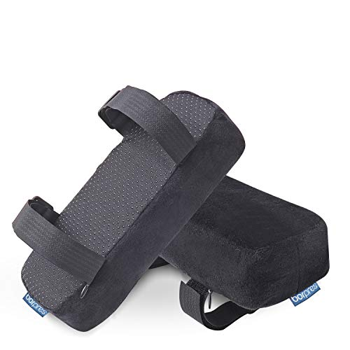 BORPRES Office Chair Armrest Pads – Premium Memory Foam Pads – Excellent Support and Cushioning for Elbows and Arms – Anti-Slip Velvet Elbow Pads – Thick and Comfortable Chair Pads,2 Pack