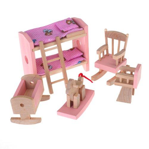 Puppenhaus Möbel Holzspielzeug Kinderzimmer Set