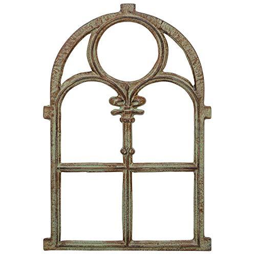 Fenster Eisenfenster Stallfenster Scheunenfenster Eisen Antik-Stil 74cm grün