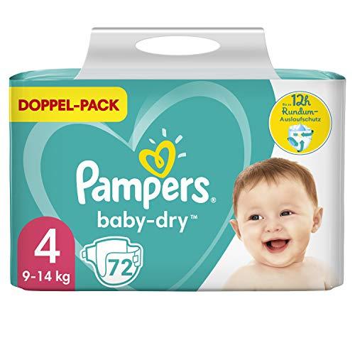 Pampers Größe 4 Baby Dry Windeln, 72 Stück, Für Atmungsaktive Trockenheit (9-14kg)