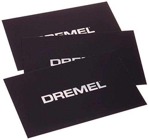 Dremel 2615BT01JA BT01 3D20 Idea Builder Druckmatten-Set 3-Stück 15,8 cm x 23,5 cm schwarz