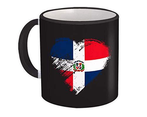 Corazón dominicano : Taza de Regalo : Bandera de expatriados de República Dominicana