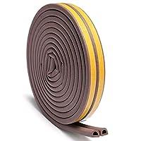 Lruirui-シャワードア 自己接着ドラフト除外器ゴムドア窓シールストリップロールフォーミップ、 簡単インストール (Color : Brown, Length : 5M)