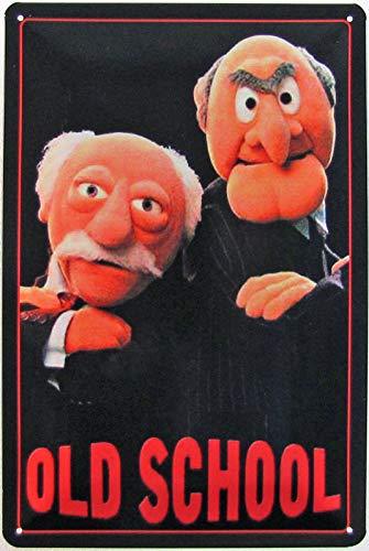 Blechschild 20x30cm gewölbt Muppet Show Old School Deko Geschenk Schild Waldorf Statler