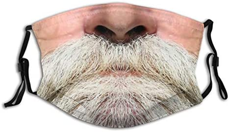 Beard Funny Face Mask Washable Reusable Balaclava with 2 Pcs Filters for Unisex Adult product image