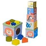 Taf Toys 12725 - Cubo para clasificar formas Sabana