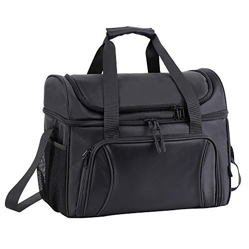 Super Large Lunch Box Duffel Soft Sided Cooler Bag 36 Cans Flight Attendant Cooler Lunch Tote Bag for Men Woman Leakproof Insulated Portable Food Bag Work Travel Road Trip Sport Camping Picnic Black