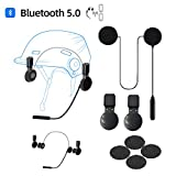 Motorcycle Helmet Bluetooth Headset HiFi Stereo Bluetooth 5.0 Auto Pairing Auto Answer Support Voice Dial 60H Playtime Fits Summer and Winter Bluetooth Helmet Headset Waterproof Sports Cycling/Skiing