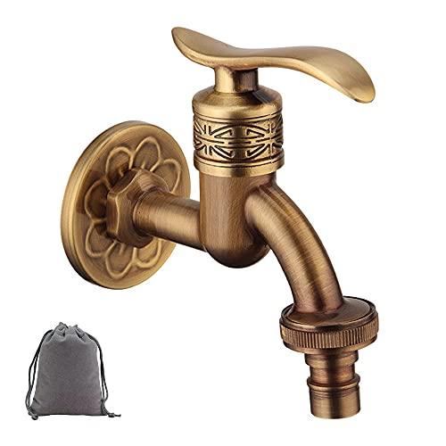 Retro-Wasserhahn aus Messing, Wandmontage, Kaltwasser-Wasserhahn, Waschmaschine, Pool, Garten