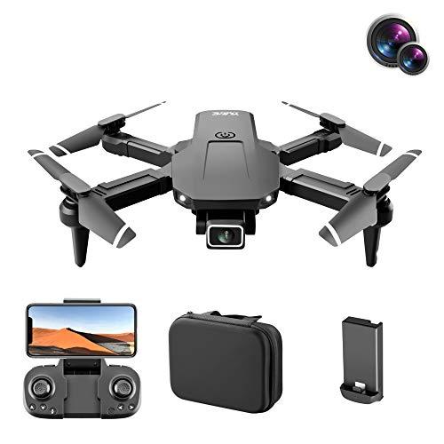 S68 4K HD GPS FPV Drones con cámara dual para adultos Niños principiantes, Drone Quadcopter plegable con foto de gesto, trayectoria de vuelo, retención de altitud, zoom de 50x
