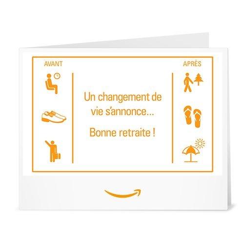 Chèque-cadeau Amazon.fr - Imprimer - Bonne retraite