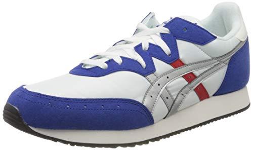 Asics Herren TARTHER OG Running Shoe, White Blue, 42 EU