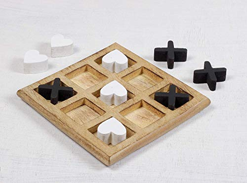 S.B.Arts Tic Tac Toe Game Set for Kids and Family, 3D Board Games, Classic Wooden Board Game Home...