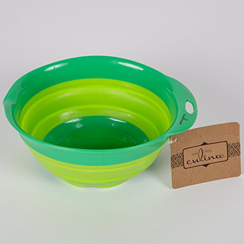Culina Collapsible Mixing Bowl. Oval 9 1/2 x 8 1/2. GREEN by Culina