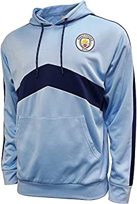Icon Sports Boys Pullover Hoodie UEFA Champions League Soccer Manchester City, Team Color, Large