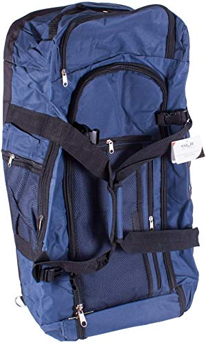 Navy & Black Extra Large 86 Litre Holdall Travel Gym Bag Long Sports Bag Suitcase Large Capacity