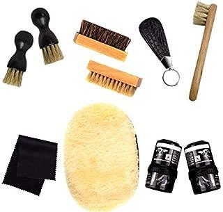[ASAKU] 靴磨きセット 道具がすべて 揃った シューズケアキット 初心者向けからプレゼント向けまで 簡単靴磨き 革靴手入れ クリーム仕上げ