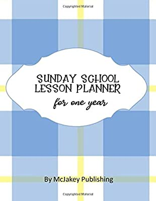 Sunday School Lesson Planner - With Blue Plaid Cover