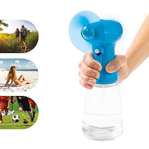 Invero - Ventilador portátil de Mano con pulverizador de Agua