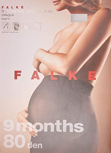 Falke dameslegging 9 months 80 denier – ondoorzichtig, mat, 1 stuks, verf. Kleuren: zwart, marine, maat S-XL – ondersteunende werking, groeit tot 9 Maand mee, ondersteuning voor onderrug en buik.