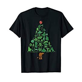 Star Wars Holiday Christmas Tree T-Shirt 10 Official Star Wars Merchandise Star Wars Holiday Tee Shirt for Men, Women, Boys, and Girls Lightweight, Classic fit, Double-needle sleeve and bottom hem
