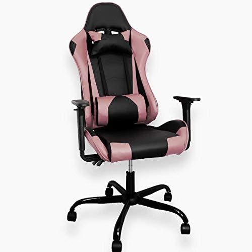 ZStyle Gaming-Stuhl für Büro, Videospiele und Gaming, ergonomisch gepolstert, Schreibtisch Computer Playstation RTX GTX (GTX, Rosa)