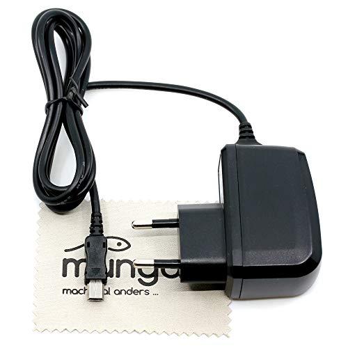 Ladegerät passend für Motorola Razr V3, V3i, V3xx, V6, Z3, Z6, Z8 (Ersetzt Motorola CH700 / CH720) USB Ladekabel Kabel 1A OTB mit mungoo Bildschirmputztuch