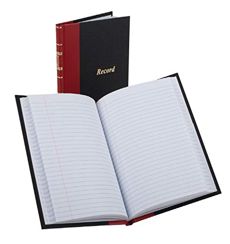 Boorum & Pease 96304 Record/Account Book, Black/Red Cover, 144 Pages, 5 1/4 x 7 7/8
