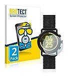 BROTECT 2X Entspiegelungs-Schutzfolie kompatibel mit Skagen Smartwatch Falster 3 Bildschirmschutz-Folie Matt, Anti-Reflex, Anti-Fingerprint