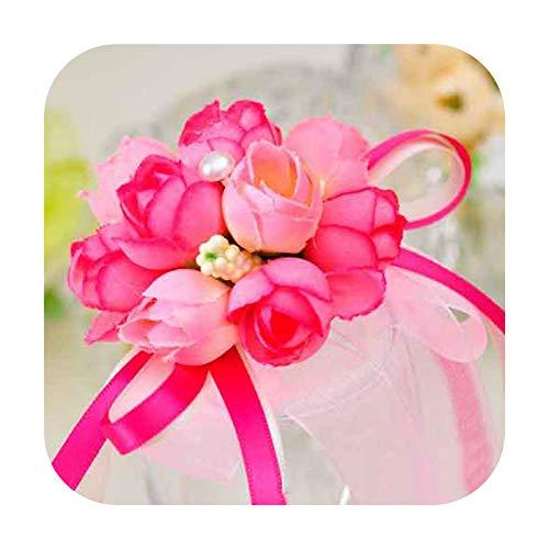 Art Flower Flores de mano para dama de honor, exquisitas flores artificiales de novia para bodas, danza artística, decoración de baile de graduación, como se muestra en la imagen