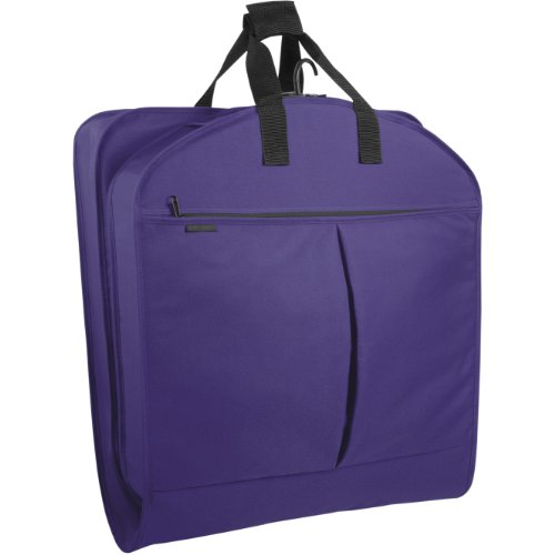WallyBags 40' Garment Bag with Pockets, Purple