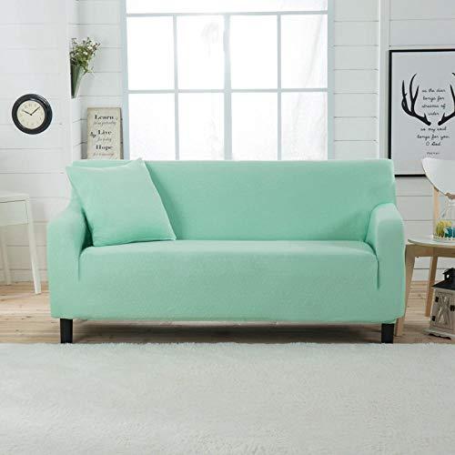 Allenger Funda de Sofá Poliéster,Funda de sofá elástica Gruesa de Color sólido, para Todas Las Estaciones, Universal, Todo Incluido, cojín para sofá, Funda para sofá, Toalla-Green_90-140cm