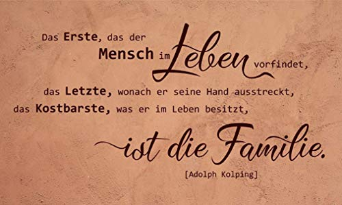 Wandtattoo-Wandaufkleber Spruch/Zitat ***.das Kostbarste ist die Familie.*** Größe und Farbe frei wählbar!
