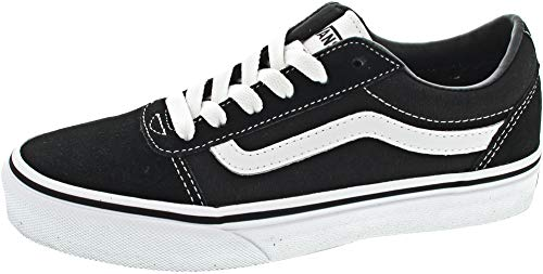 Vans Unisex Kids' Ward Low-Top Sneakers, (Suede/Canvas) Black/White Iju, 4 UK 4 UK