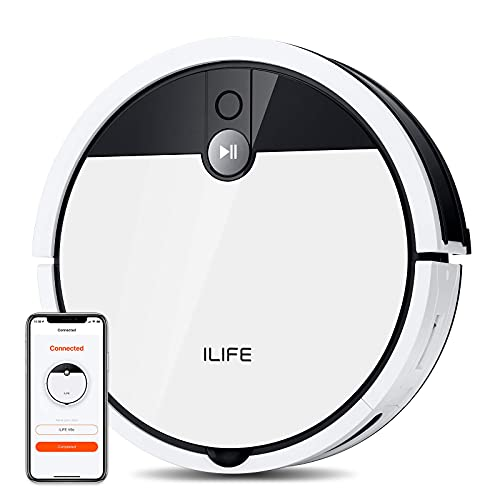 ILIFE V9e Robot Vacuum Cleaner, 4000Pa Max Suction, Wi-Fi Connected, 700mL Large Dustbin, Self-Charging, Customized Schedule, Ideal for Hard Floors and Pet Hairs
