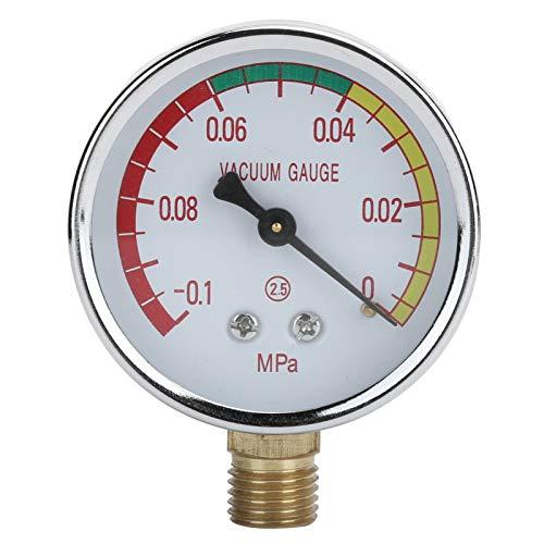 Yeelur Melkvakuummeter, korrosionsbeständig ‑0,1‑0Mpa / 4 Vakuumregler mit Außengewinde, für Aquakultur-Wassermelkmaschinengas